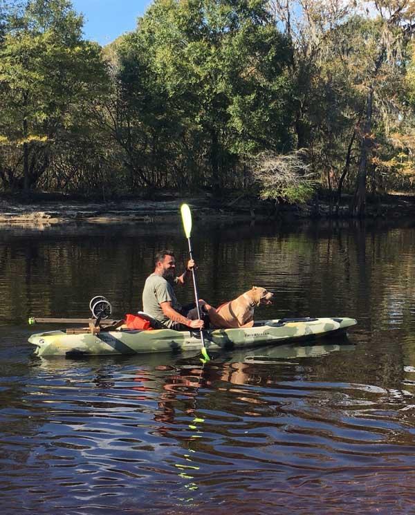 Kayaking at Ellie Ray's RV Resort