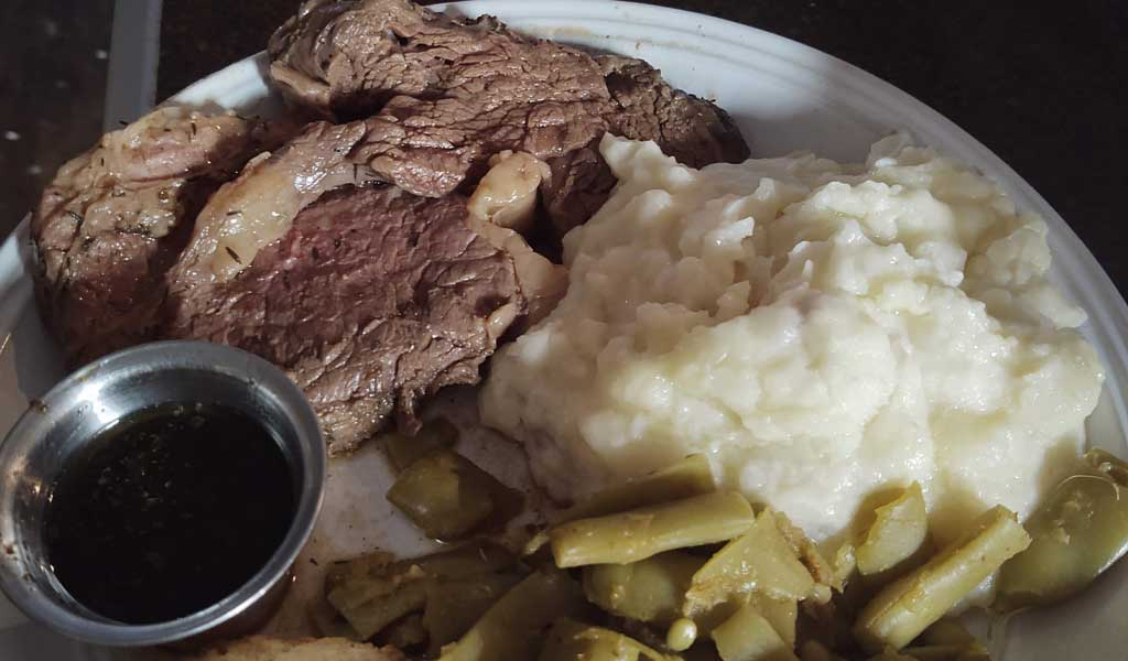 Prime Rib Dinner at Ellie Rays RV Resort