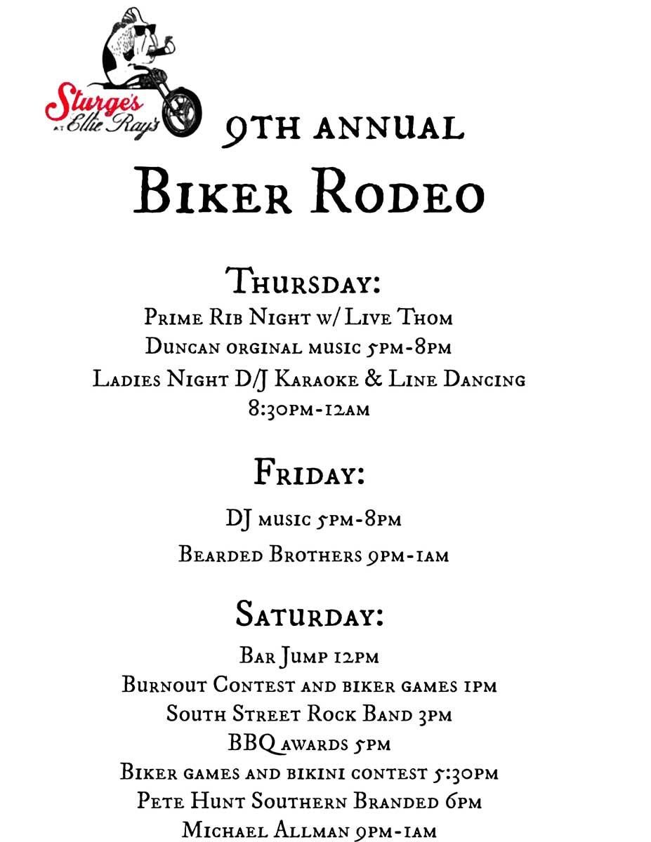 Ellie Ray's Sturge's Bike Rodeo